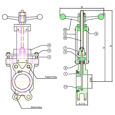 Knife gate valves - We are Manufacturer, Supplier, Exporter of Knife Gate Valves India