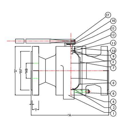 2 piece flanged end ball valve Manufacturer