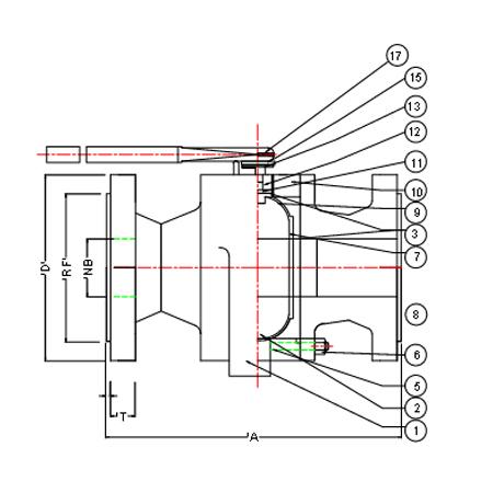 Manufacturer of Ball Valves - Two Piece Design Ball Valve Flanged End 150 & 300
