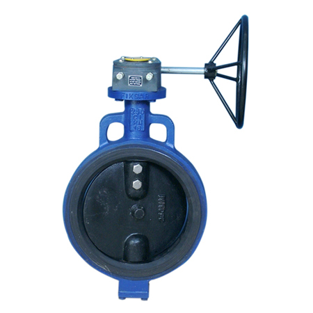 butterfly valve wafer type gear operated