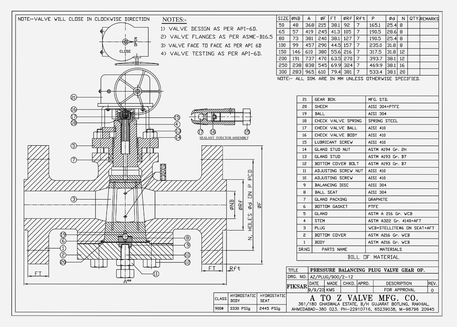 Plug Valve BS 5353